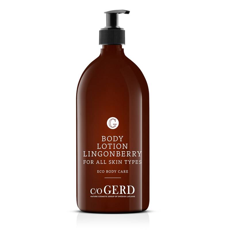 BODY LOTION LINGONBERRY 1000 ML in the group Body Care / Body Lotion & Body Oil at  Nature Cosmetic Group Of Swedish Lapland AB (302-1000)